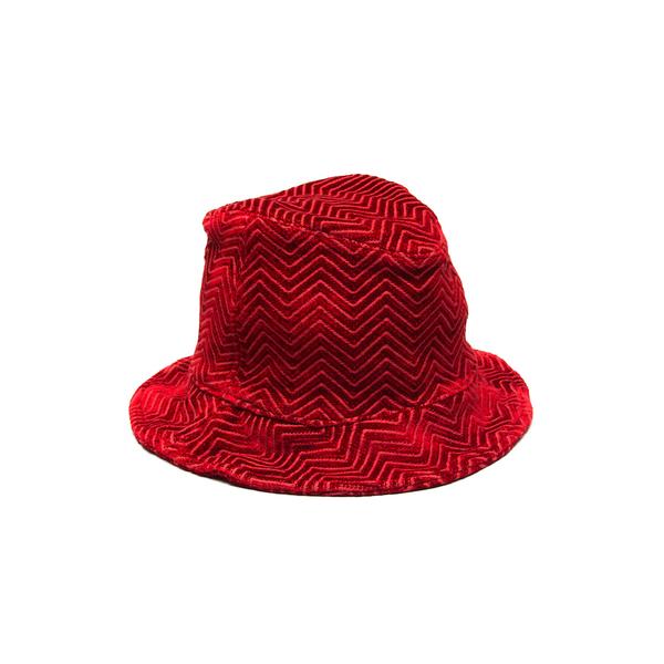Hoedjie Bucket Hat - Red Kuba Zag