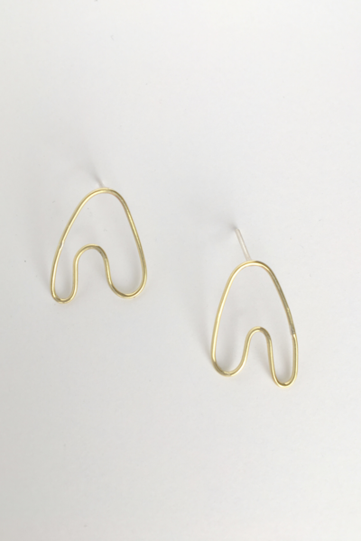 A small version of our staple Anaid earring.  This one is great for everyday wear and for people who love tiny versions of things.