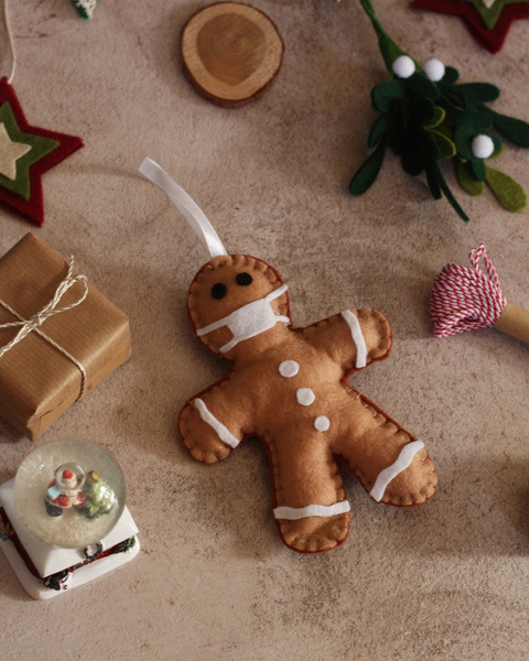 Covid Gingerbread Ornament - SOLD OUT