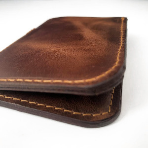 Mens folding Vertical Card Wallet - Brown and Black