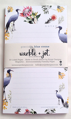 Bloc Notepad of 50 sheets  170mm x 100mm  Magnetic  Environmentally Friendly Paper  Warble + Jot Collection