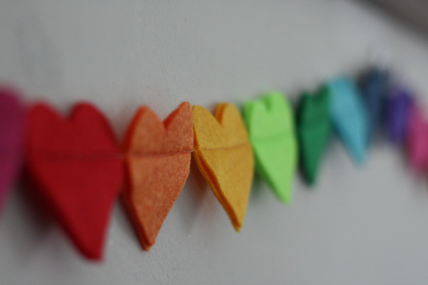 This beautiful felt bunting will add a pop of colour and fun to your desk or office space as well as a nursery or kid's room.
