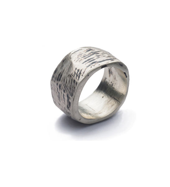 oxidised silver lady's ring