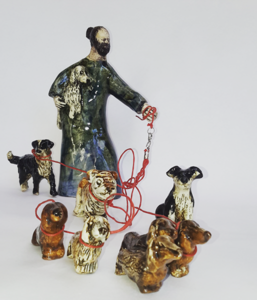 Sculpture, Dog Walker