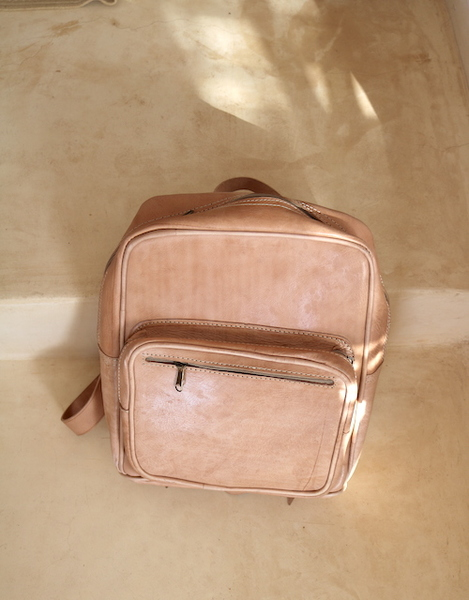 Light Leather Backpack