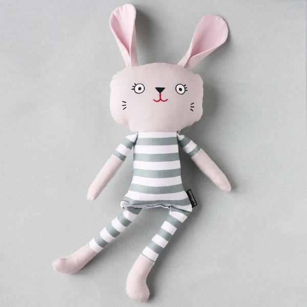 Pyjama Bunny - Bold Sage Stripe
