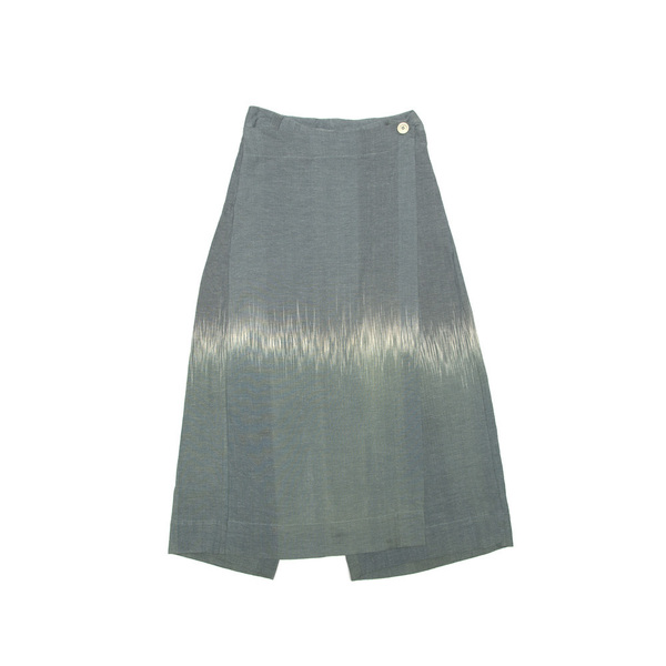 Wrap Dress Trouser - Naturally Dyed at Tarum Bali (Leaf Green)