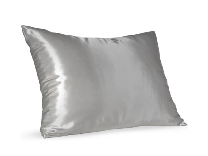 Grey Satin Pillow Slip - Standard