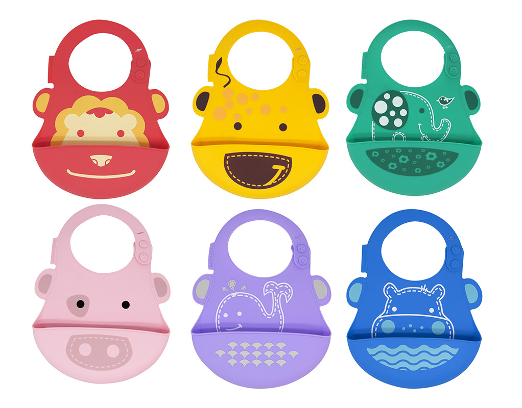 These incredibly soft and stain resistant silicone bibs make mealtime a breeze!