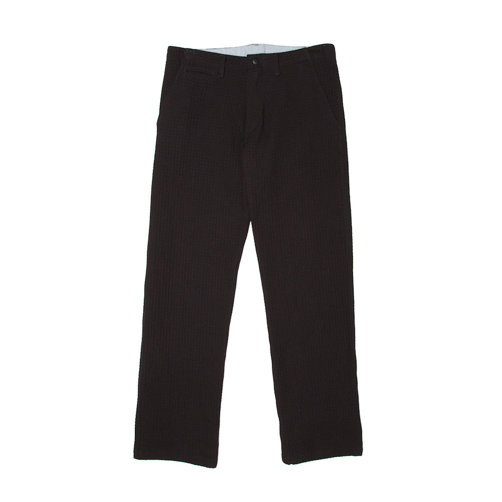 Wide Leg Chino - Waffle Cotton - Black