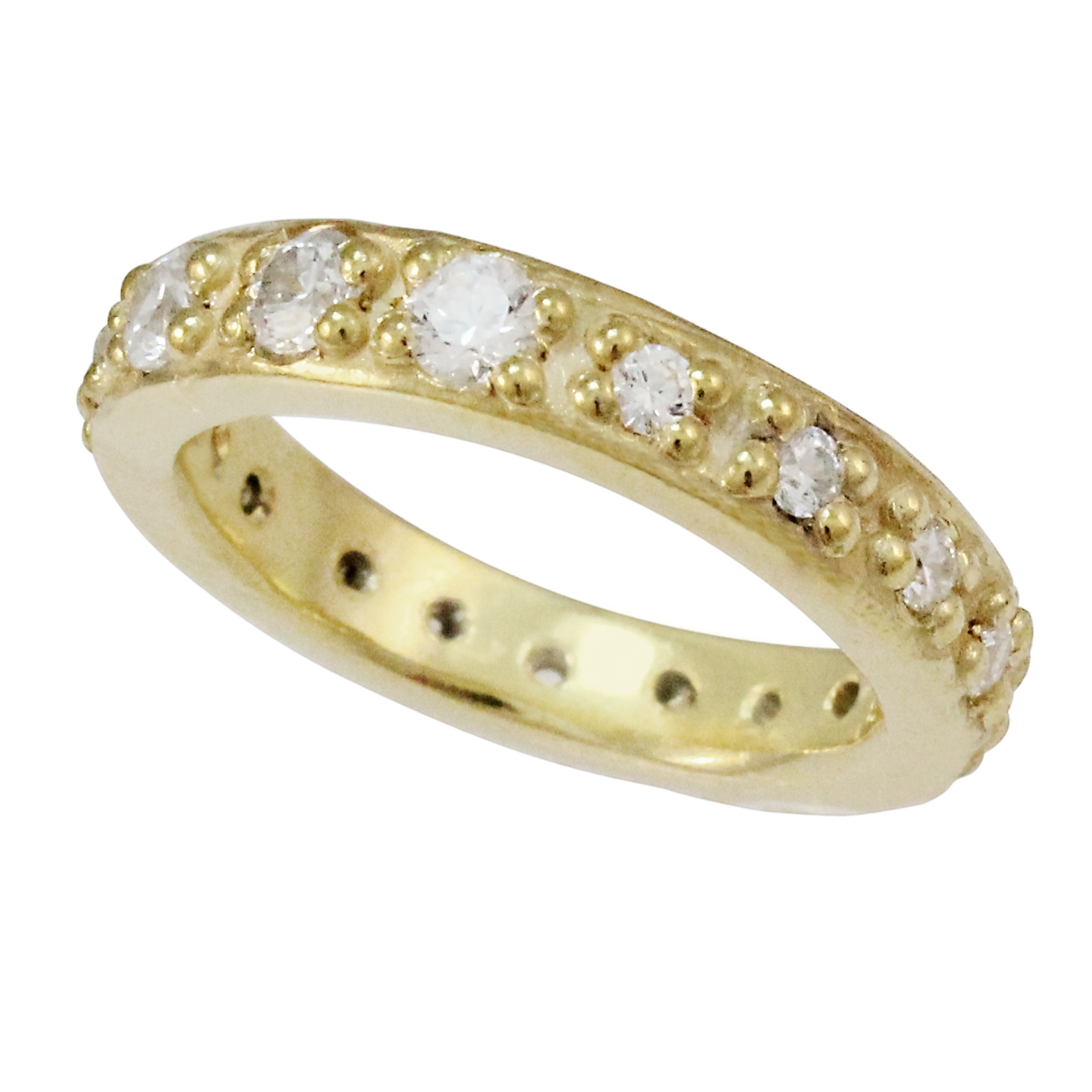 9ct Gold Diamond Organic Eternity Ring