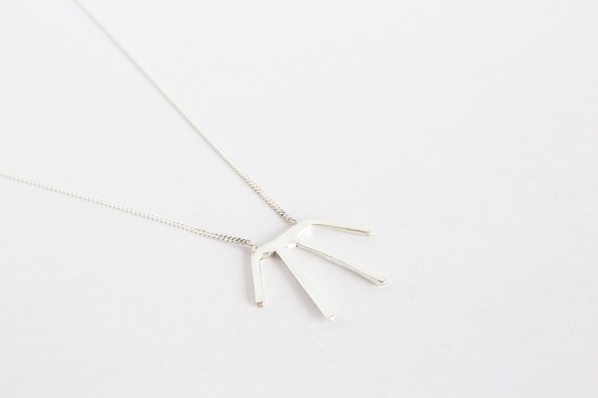 A simple necklace made with solid .925 sterling silver. 