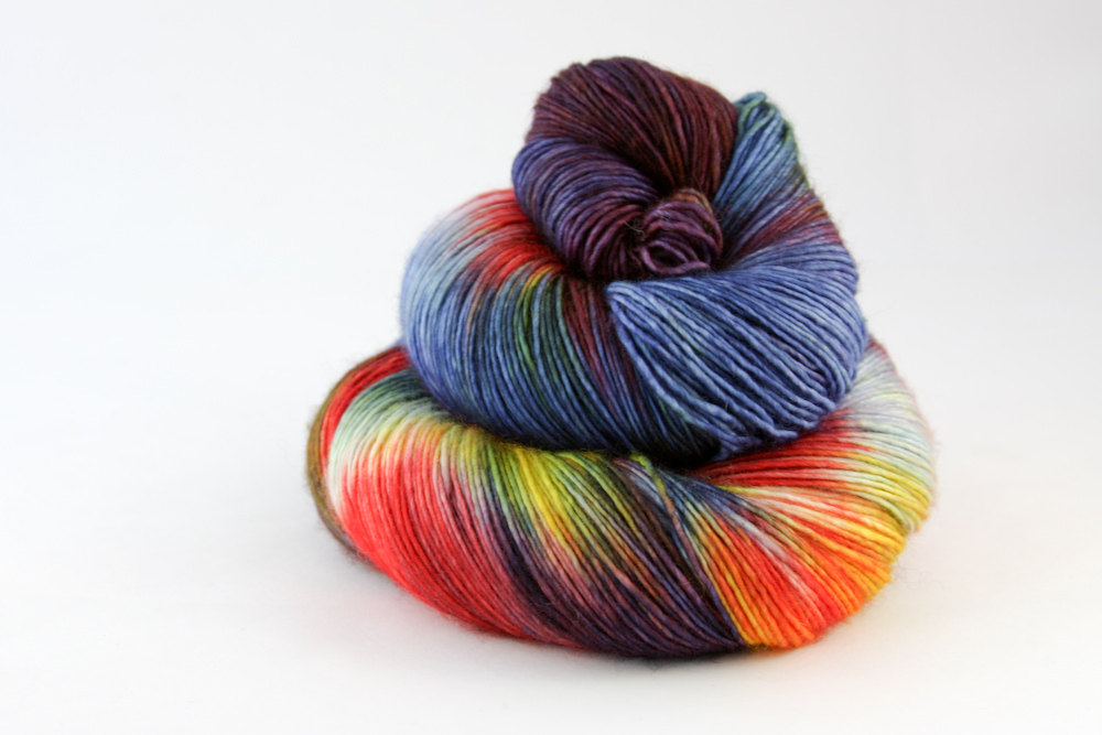 Colour - variegated lemon yellow, lime green, scarlet, sky blue, ivory, cinnamon, pale pink, moss, royal blue, mauve, grape, orange, tangerine, maroon, burgundy