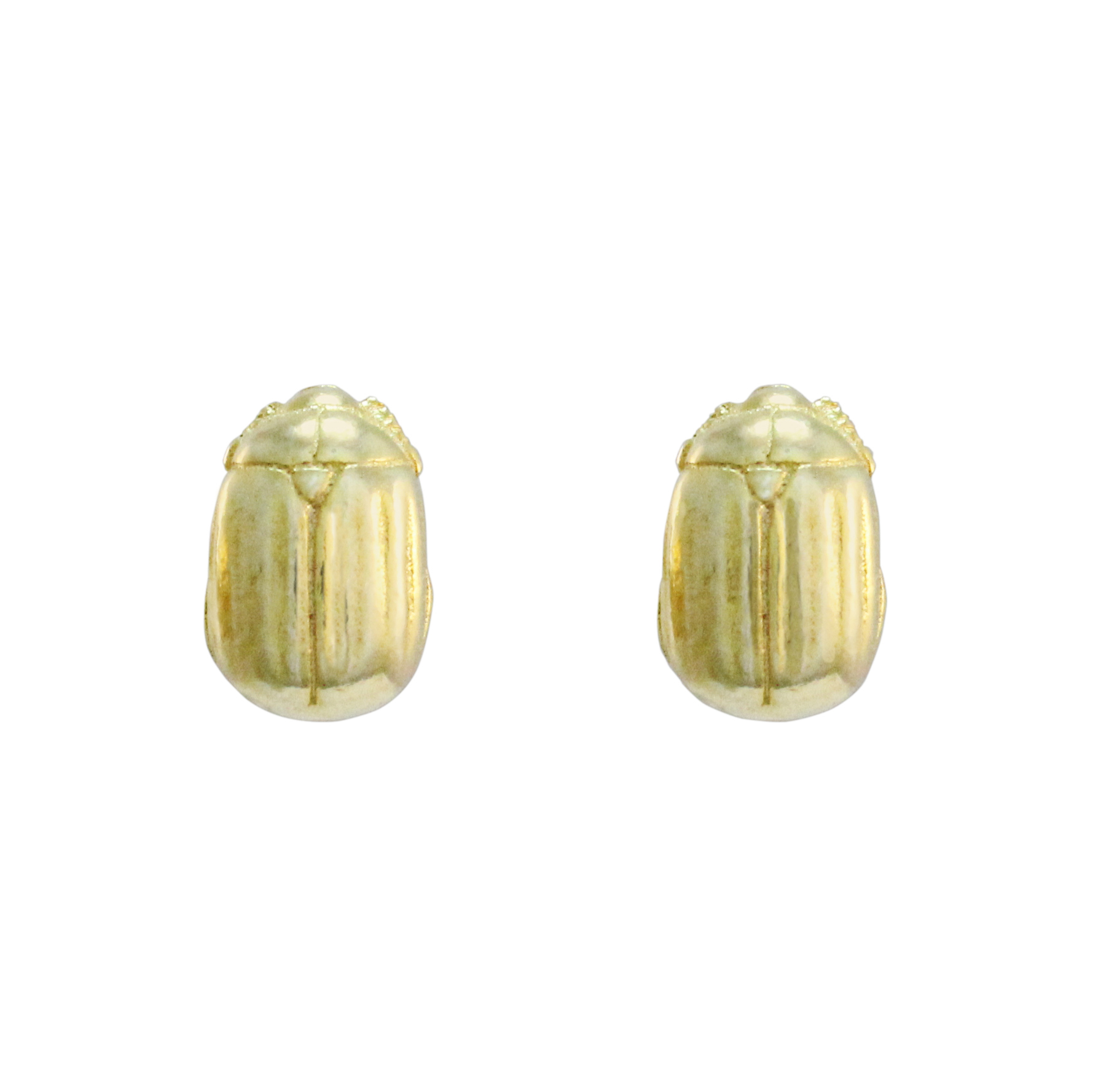 9ct Yellow Gold Beetle Studs
