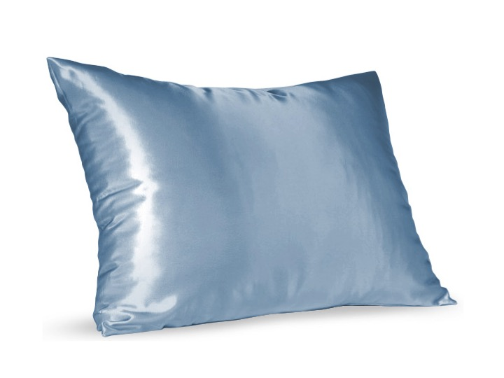 Blue Satin Pillow Slip - Standard