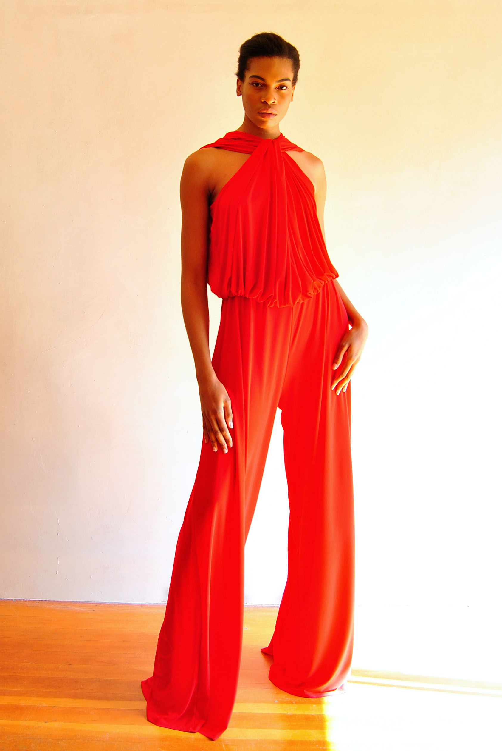 Twist Jumpsuit Red