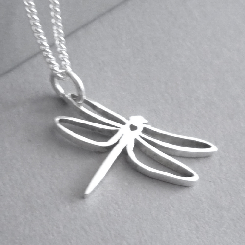 Sterling silver Dragonfly Pendant.