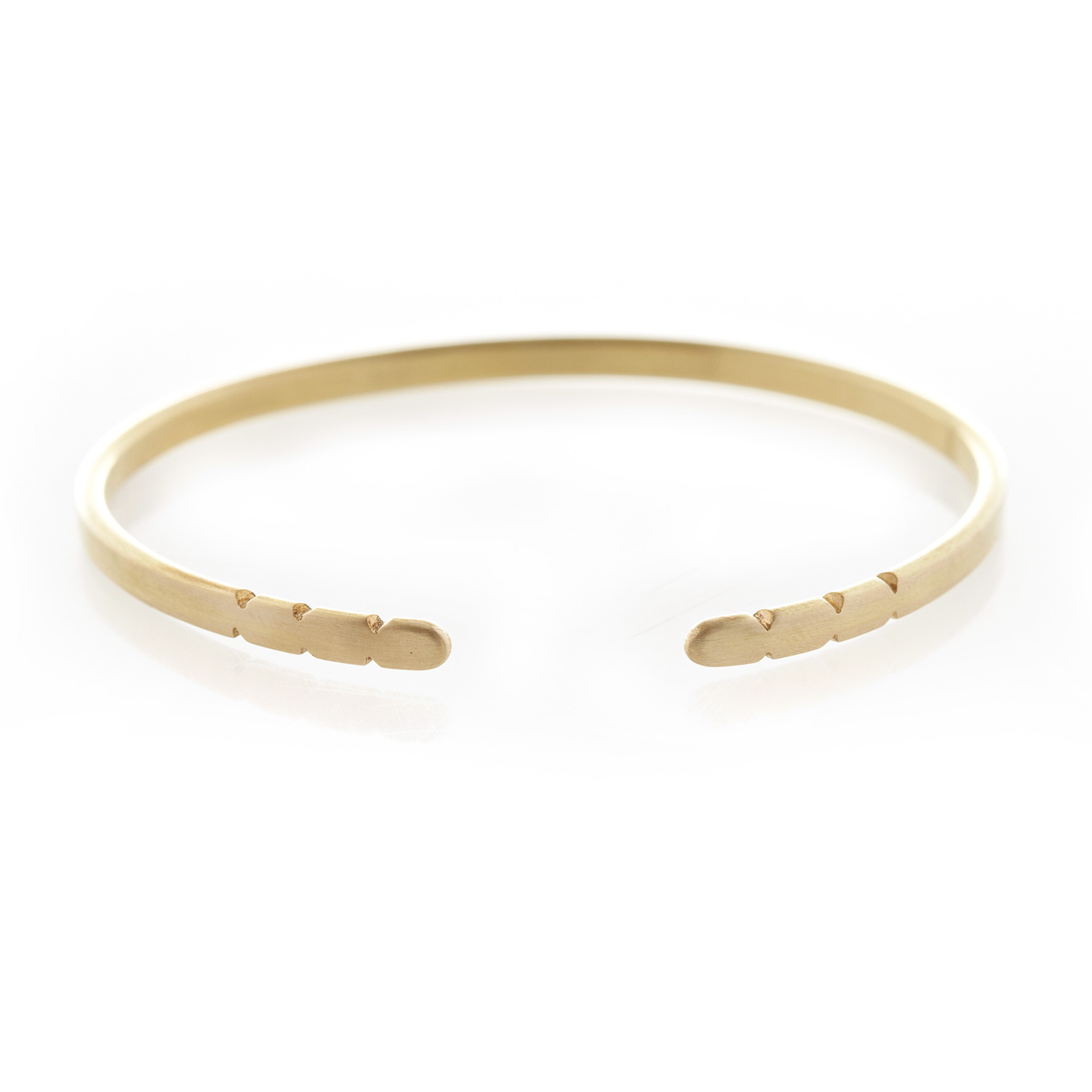 Three Quarter edge bangle