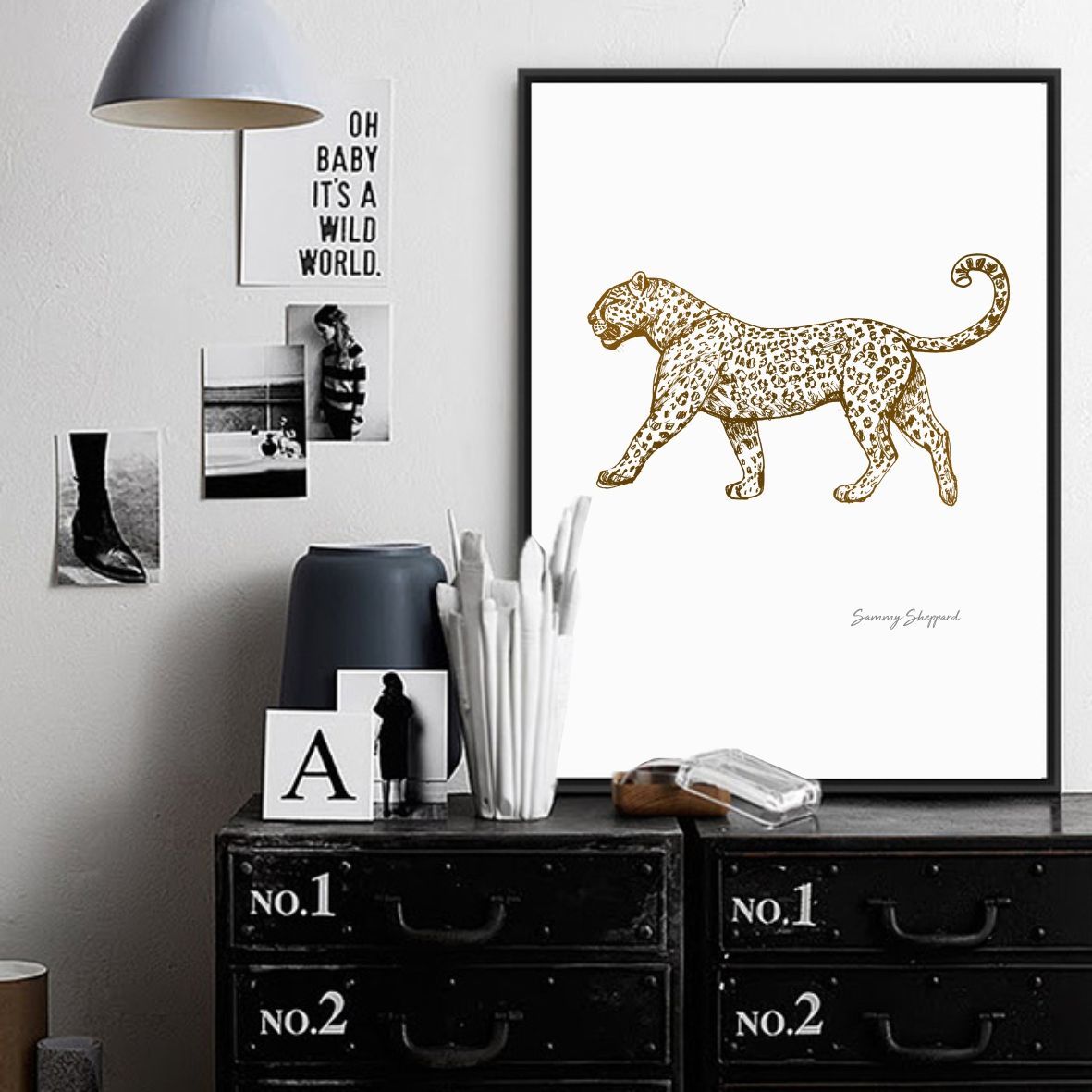 Fine Art Sketch Prints - GOLD