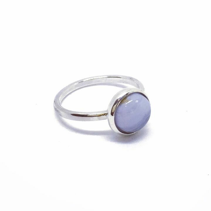 Anna Blue Lace Agate Ring