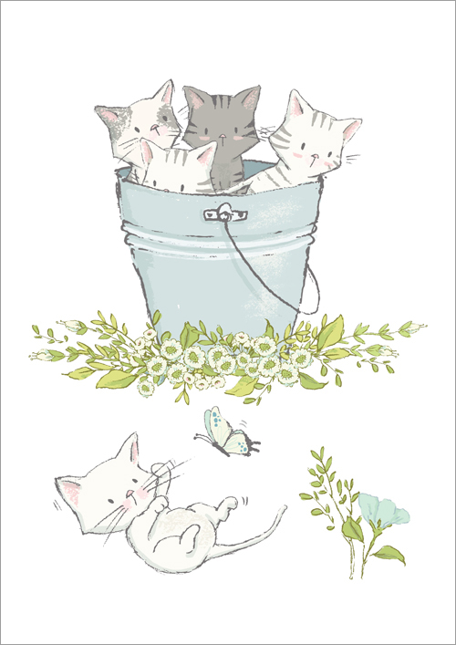 Children's print ~ Kittens