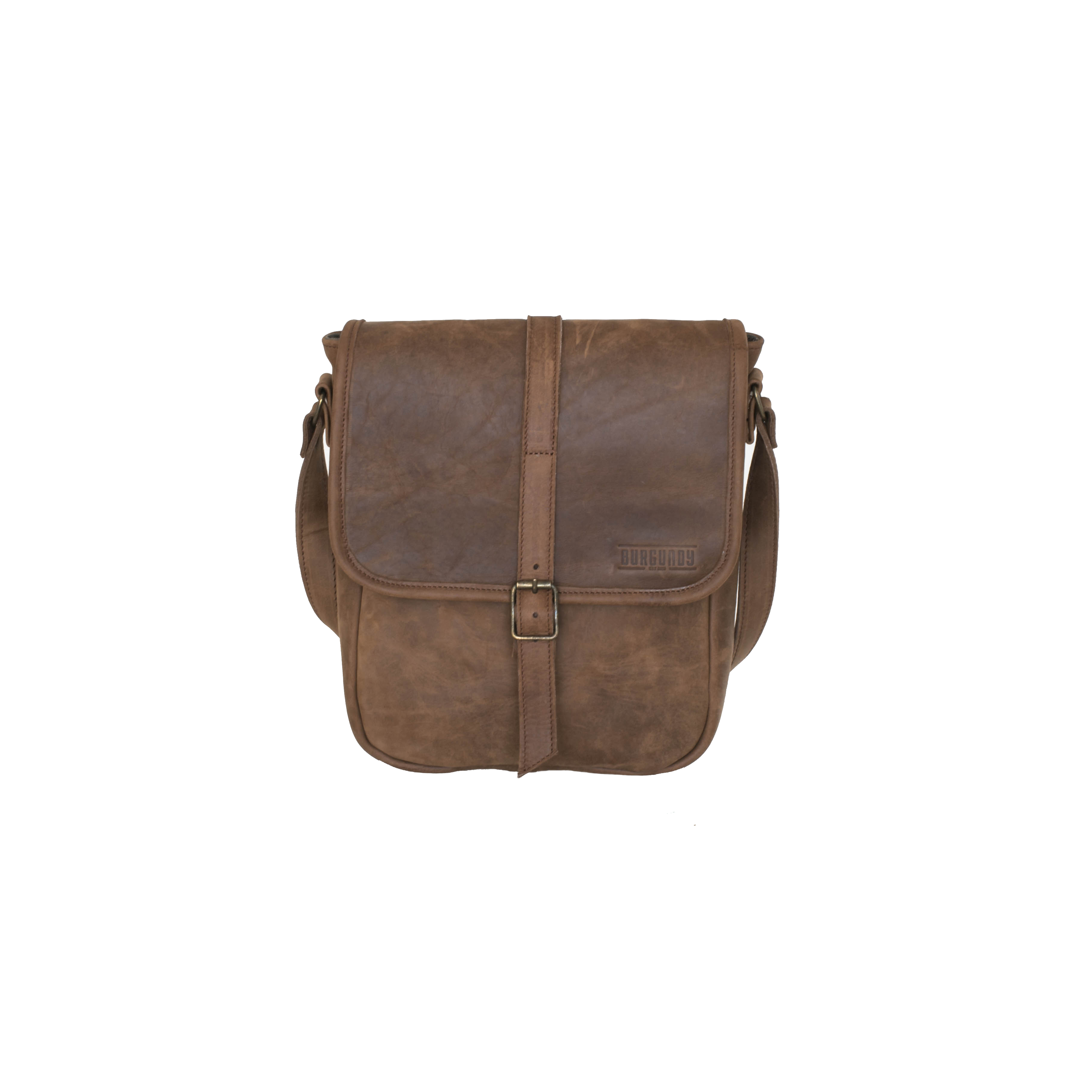 Casual on-the-go shoulder sling bag for everyday travel and use.    FEATURES:   Foam padded for protection Fits standard size tablet 2 x Interior pouches 2 x Exterior pouches Adjustable leather strap     DIMENSIONS :  H 30cm x W 40cm x D 15cm