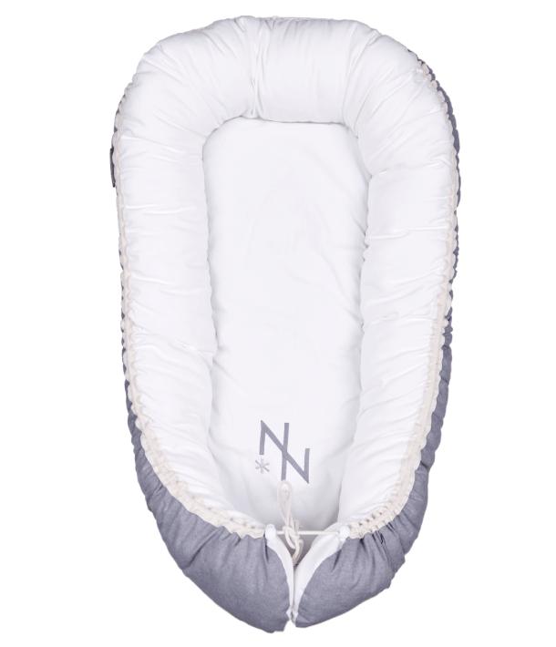 Baby Nest - Plain White With Monogram
