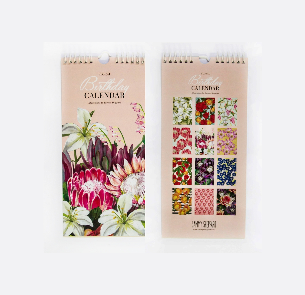 The ideal gift for mom, aunt sister or self! Never forget a birthday with this classy calendar.