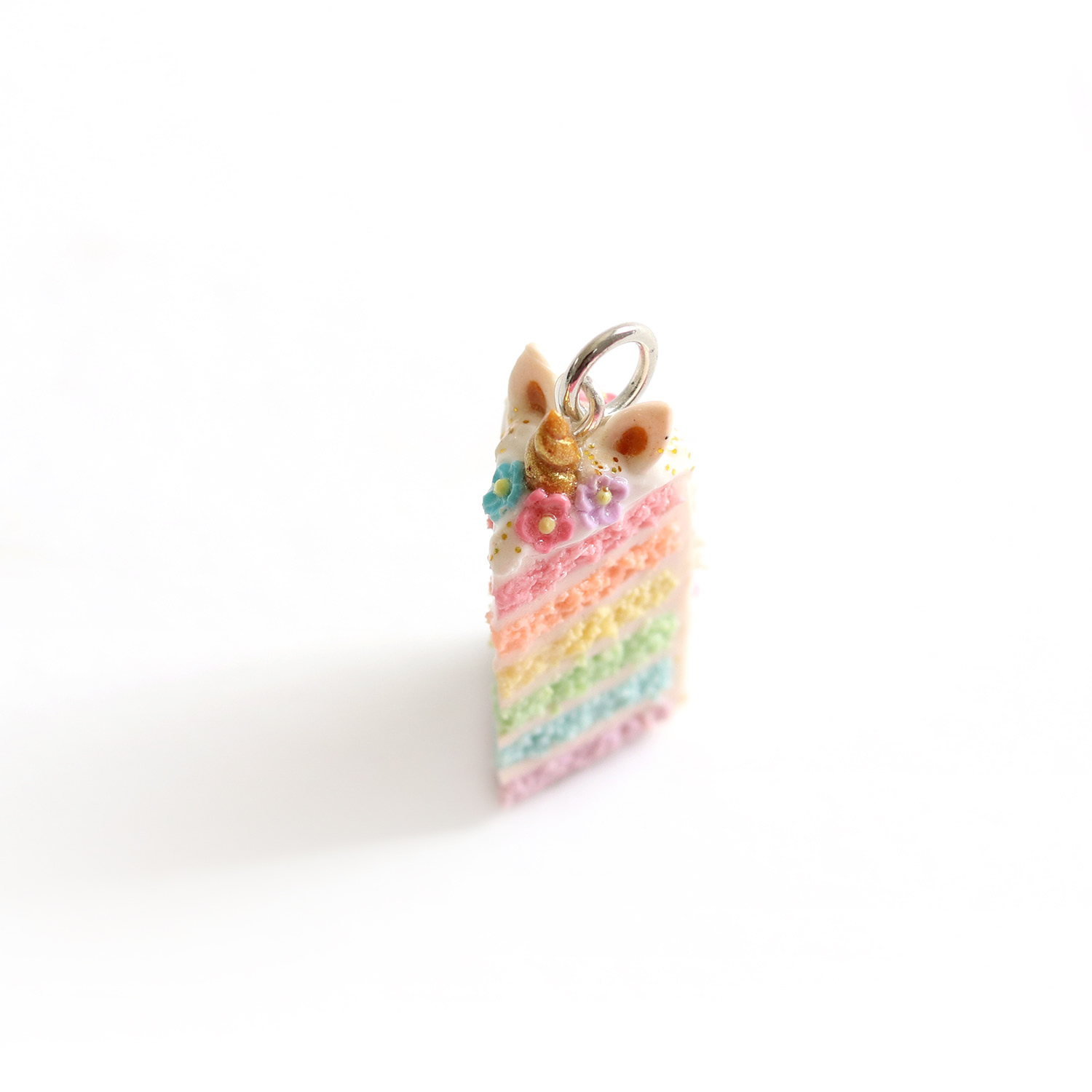 Unicorn Rainbow Cake Charm/ Necklace