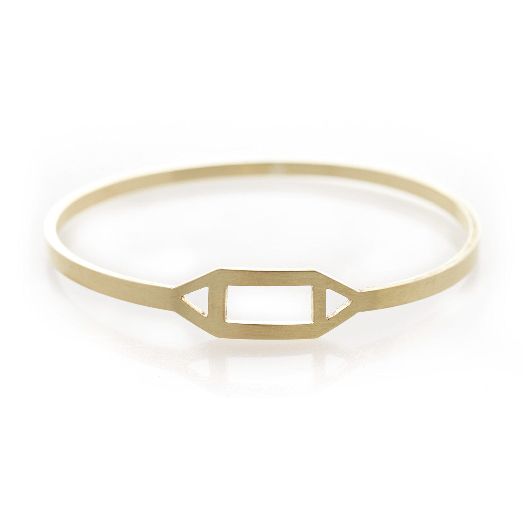 Geometric brass bangle