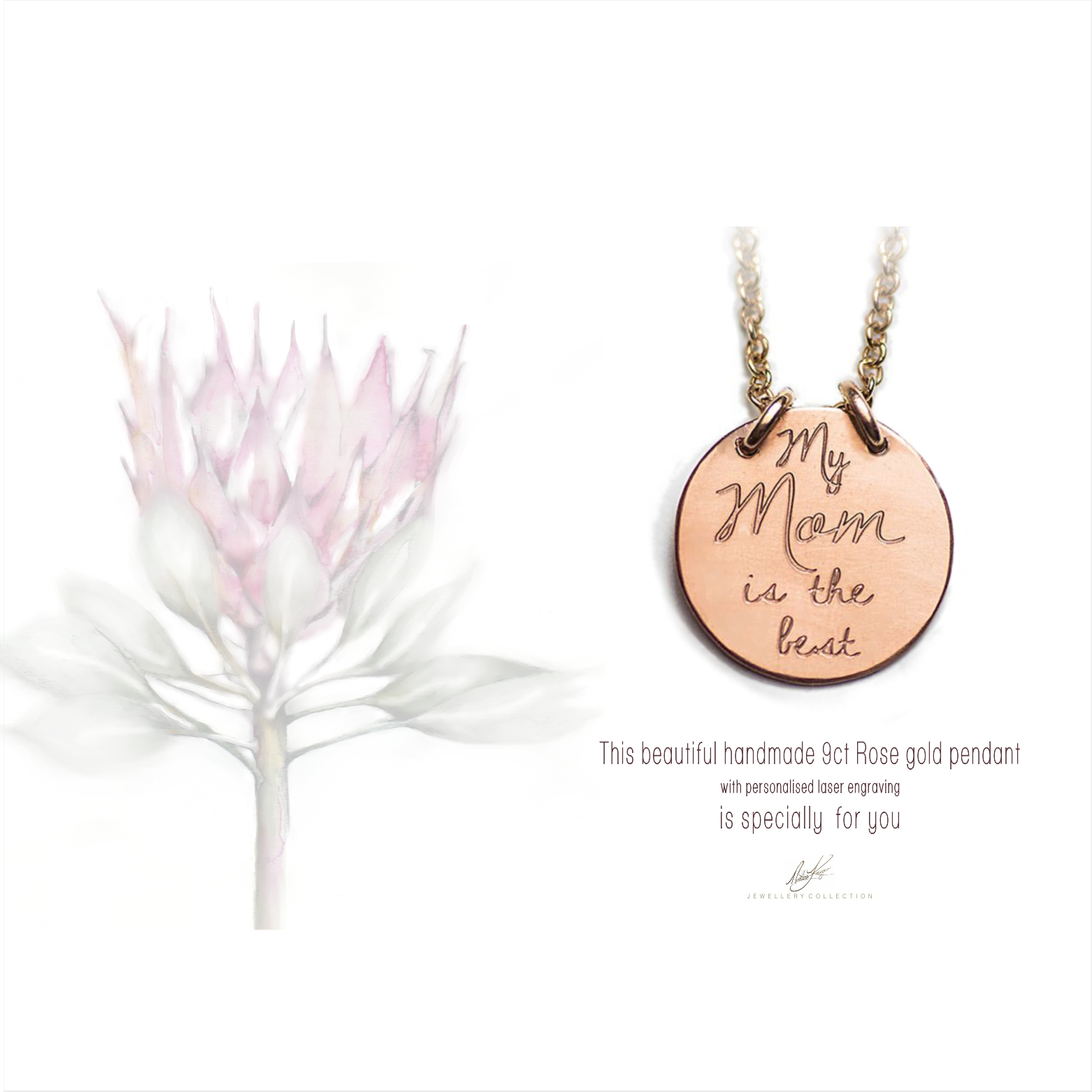 Rose Gold Disk, mothers day gift