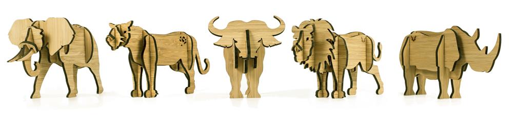 Head on design big 5 in bamboo