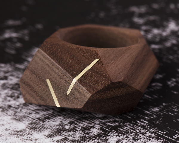 Walnut inlay ring 1