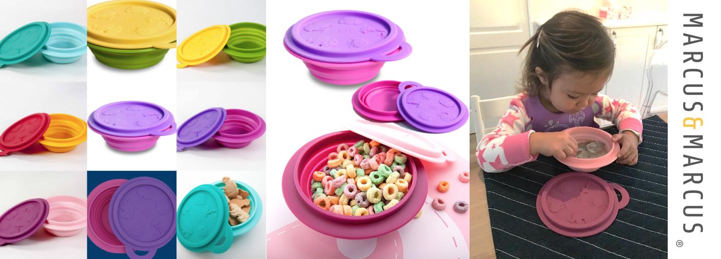 Collapsible bowl slider