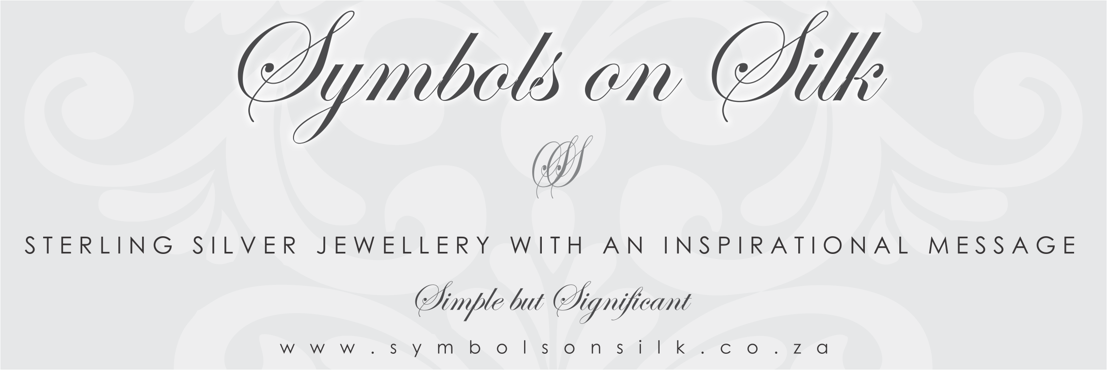 Symbols on silk email banner