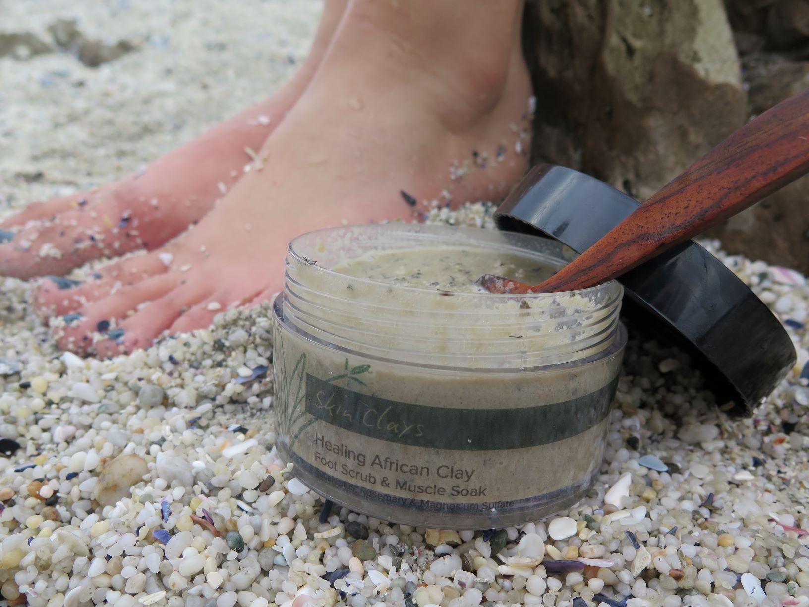 Healing foot scrub