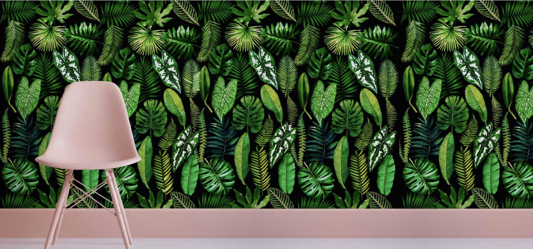 Wallpaper tropical ebony