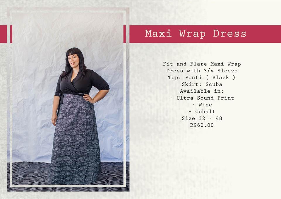 3 maxi wrap dress