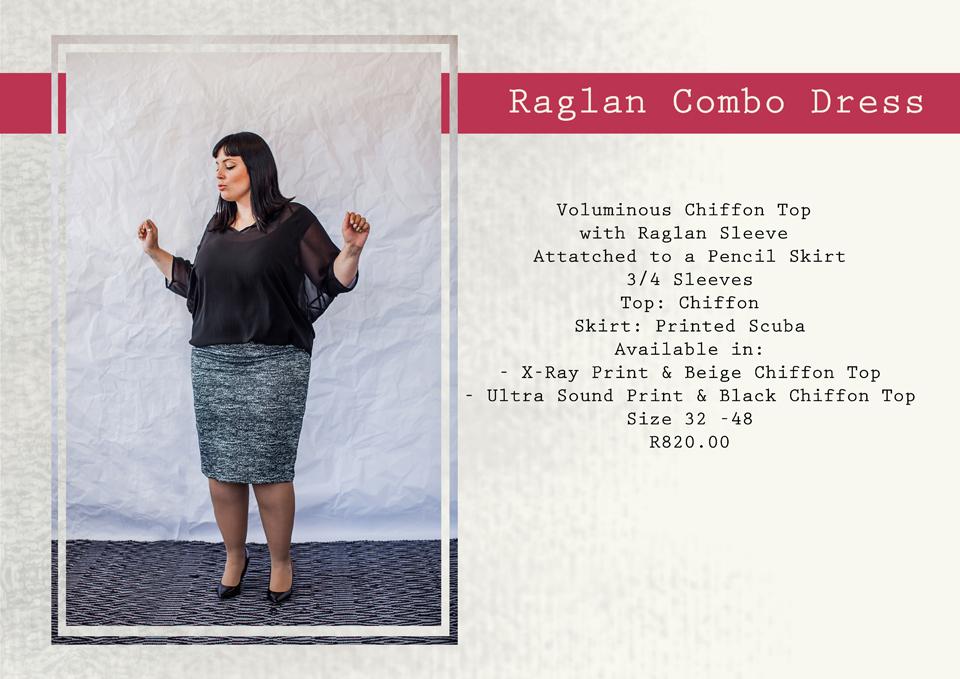 17 raglan combo dress