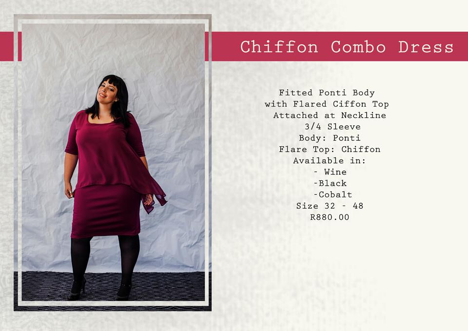 20 chiffon combo dress